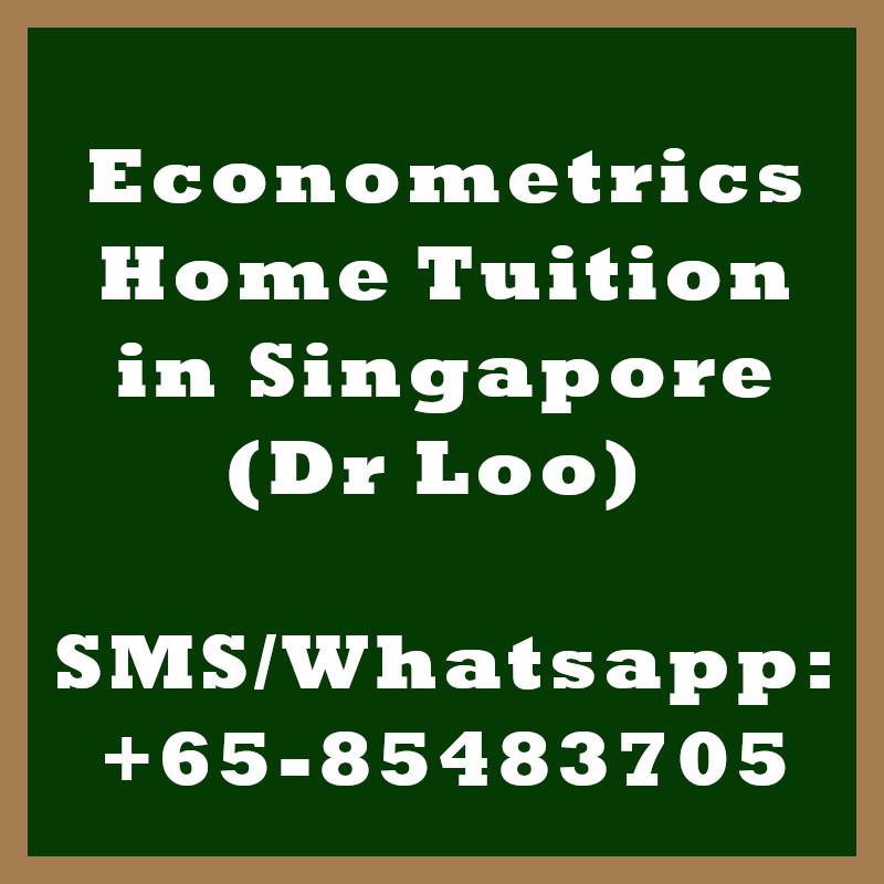 Econometrics Home Tuition Singapore