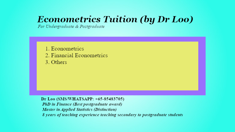 Econometrics Tuition Singapore