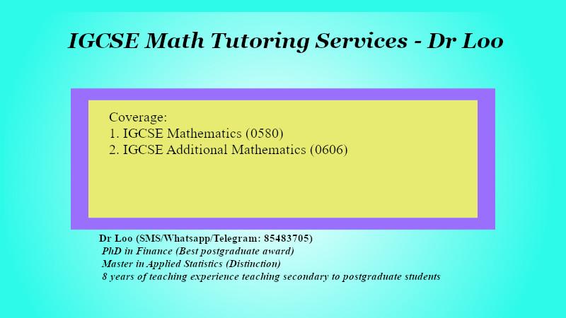 IGCSE Mathematics Tuition in Singapore