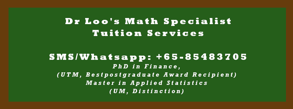 JC H2 Math Tuition Singapore