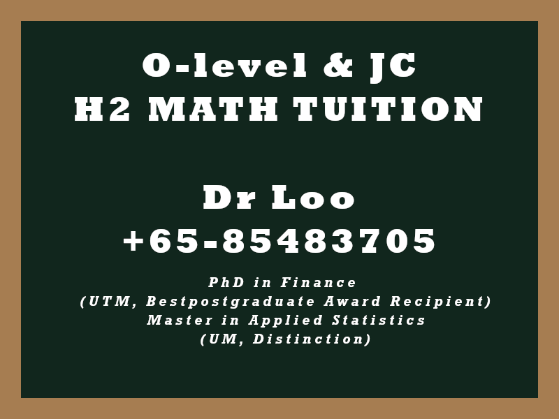 JC Mathematics Home Tuition Singapore