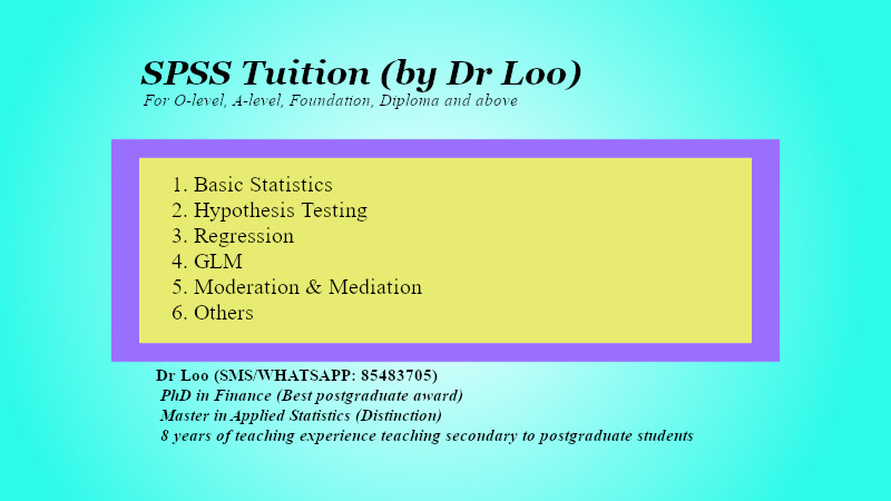 SPSS Tuition Singapore