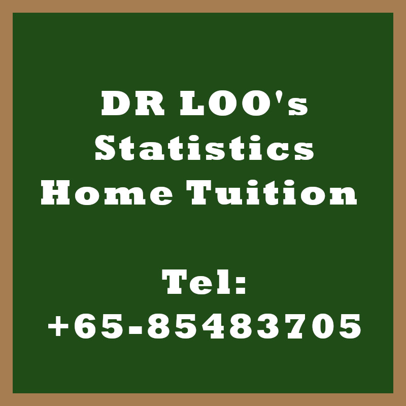 Statistics Home Tuition in Singapore