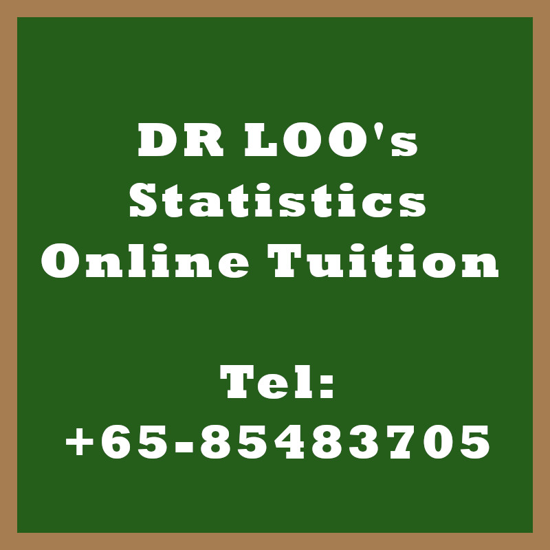 Statistics Online Tuition in Singapore