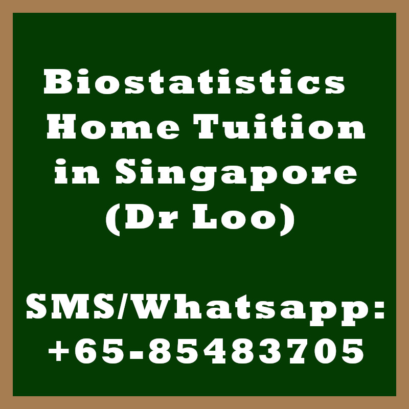 Biostatistics Home Tuition Singapore
