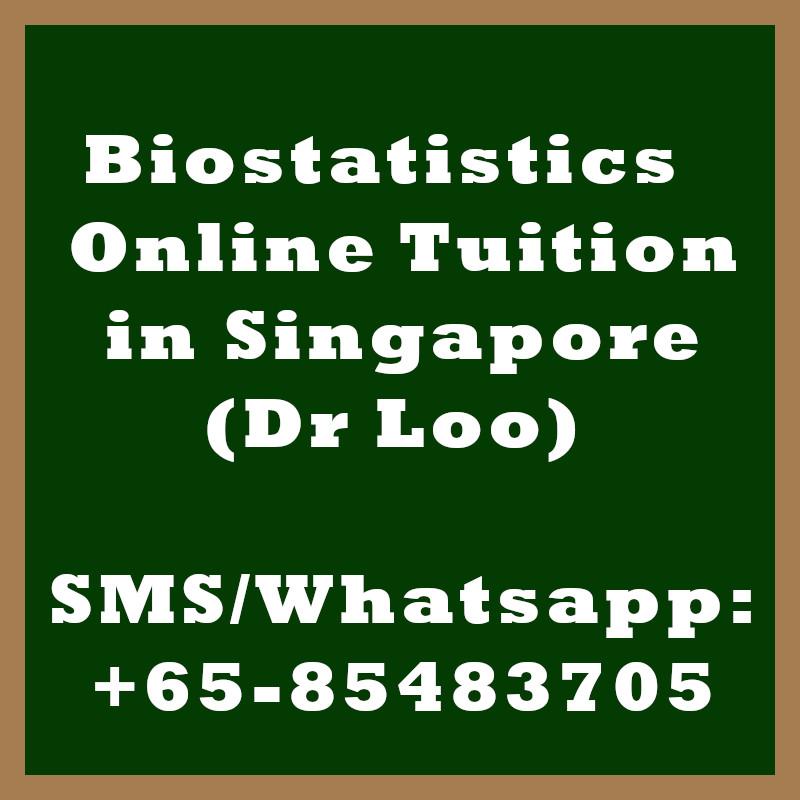 Biostatistics Online Tuition Singapore