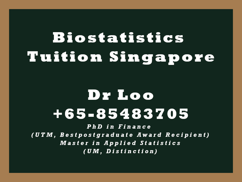 Biostatistics Private Tuition Singapore