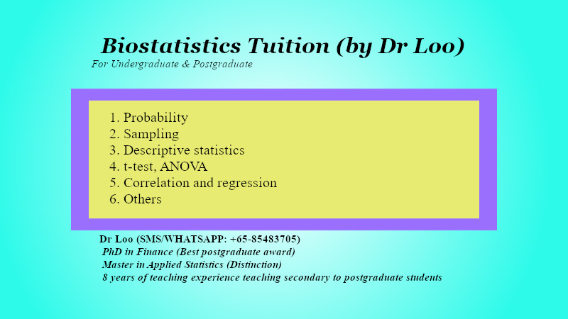 Biostatistics Tuition in Singapore