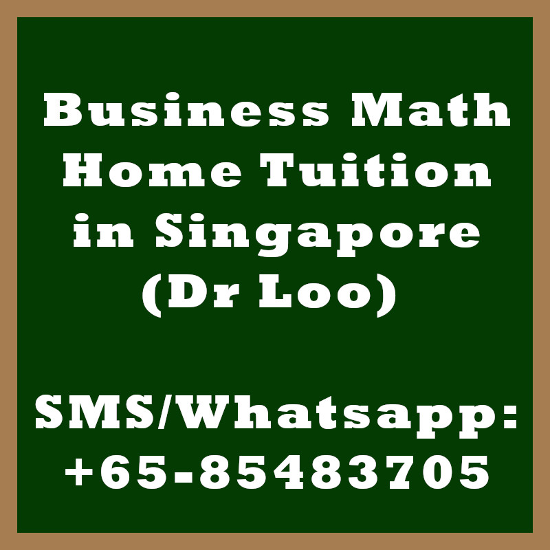 Business Math Home Tuition Singapore