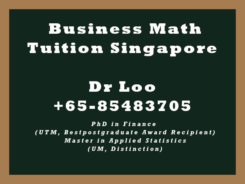 Business Mathematics Private Tuition Singapore