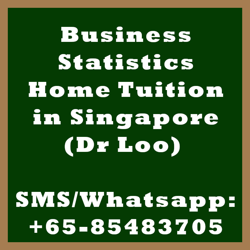 Business Statistics Home Tuition Singapore