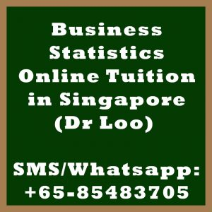 Business Statistics Online Tuition Singapore