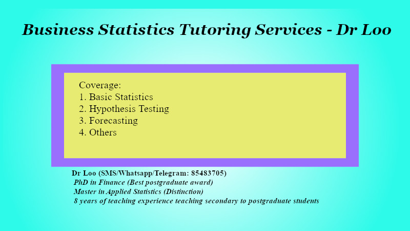 Business Statistics Tuition in Singapore
