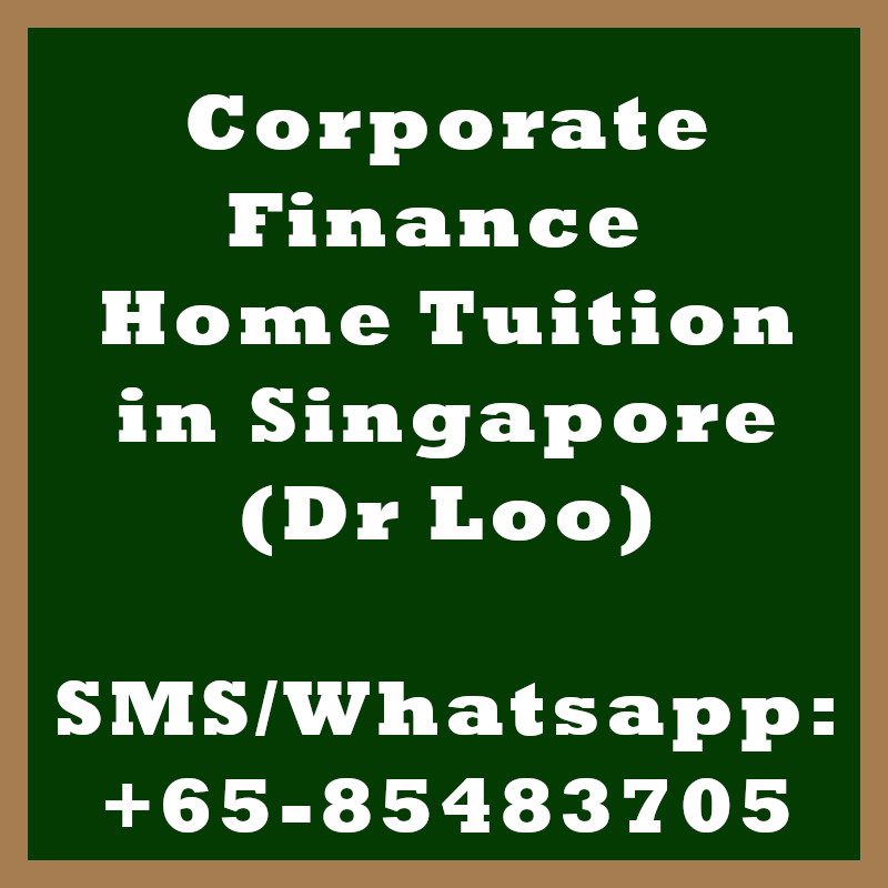 Corporate Finance Home tuition Singapore