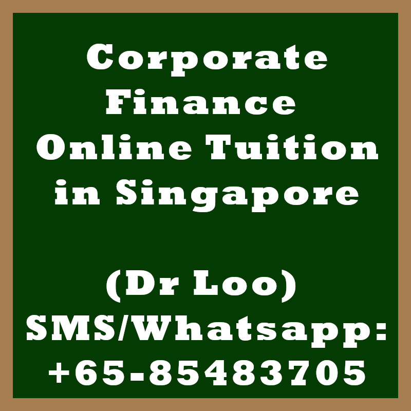 Corporate Finance Online Tuition Singapore