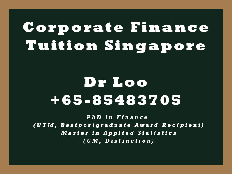 Corporate Finance Private Tuition Singapore