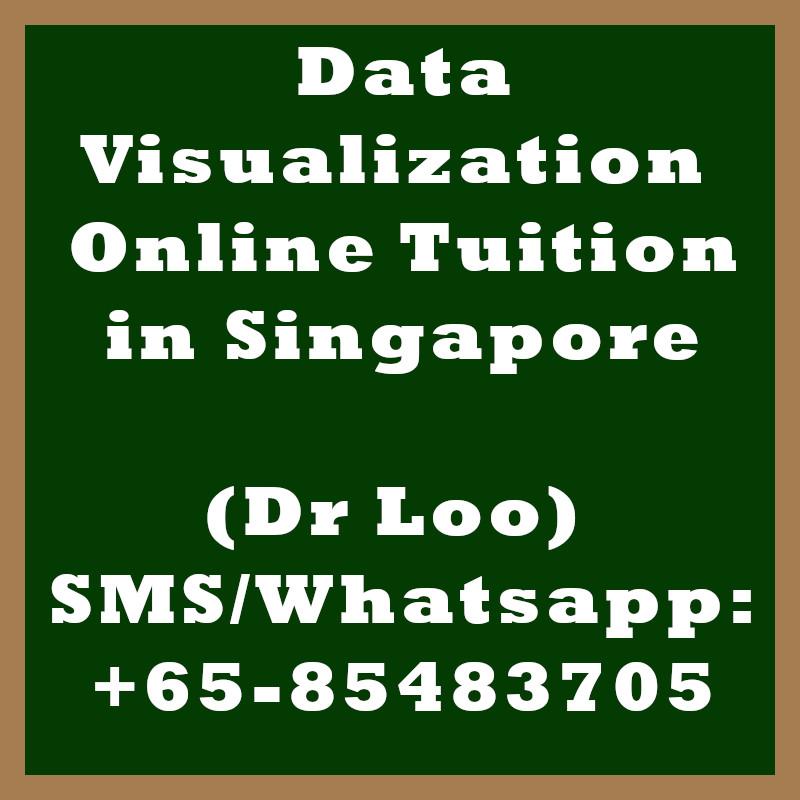 Data Visualization Online Tuition Singapore