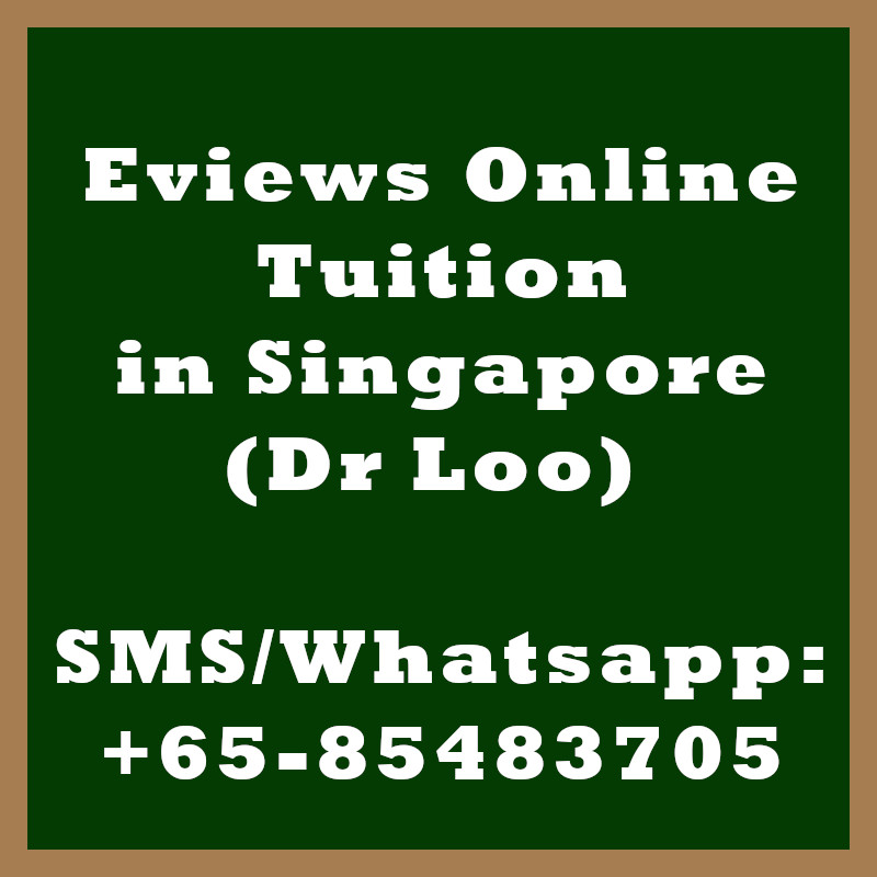 Eviews Online Tuition Singapore
