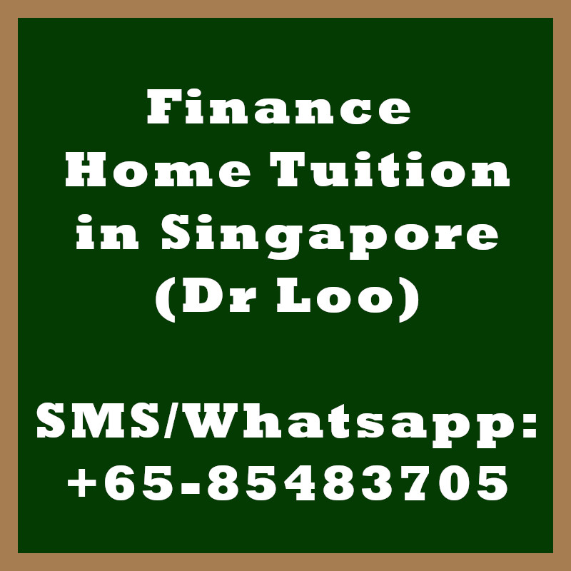 Finance Home tuition Singapore