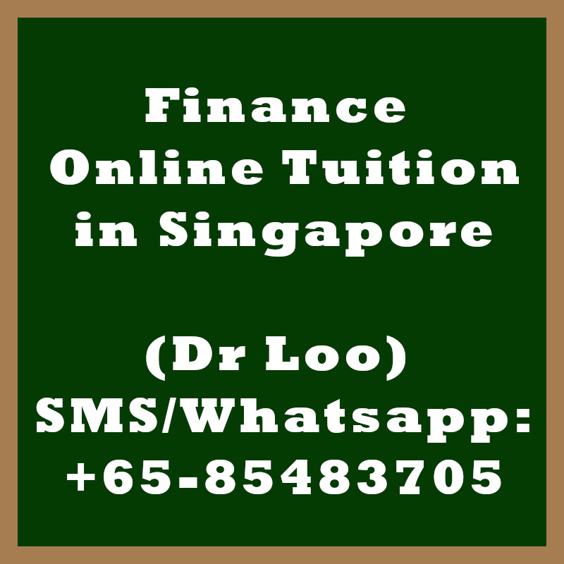 Finance Online Tuition Singapore