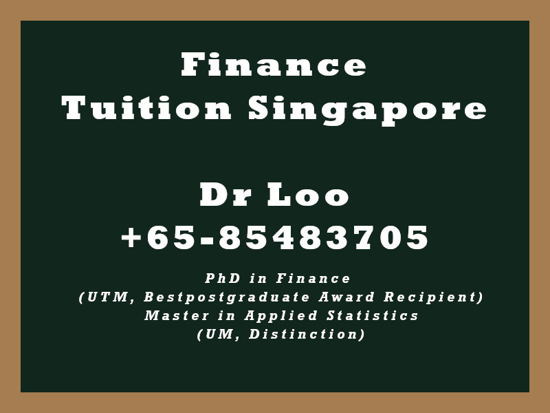 Finance Private Tuition Singapore