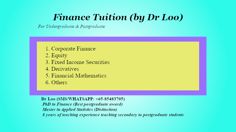 Finance Tuition in Singapore
