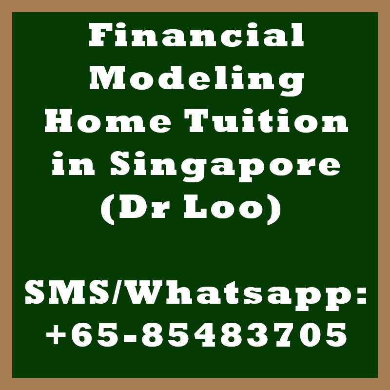 Financial Modeling Home Tuition Singapore