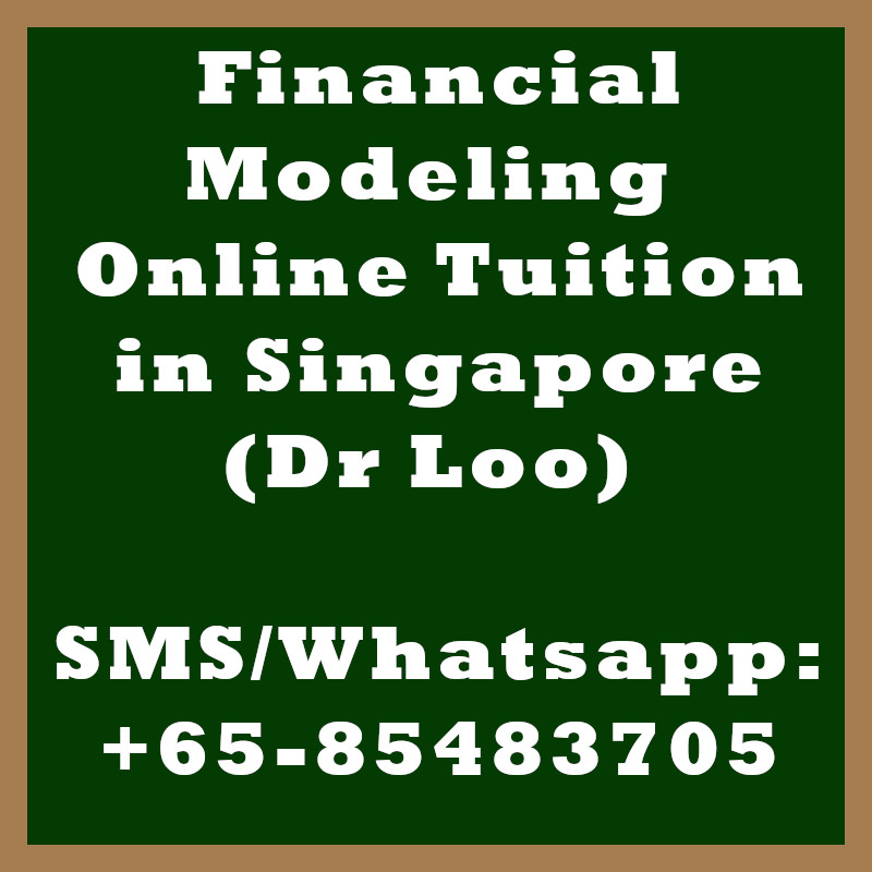 Financial Modeling Online Tuition Singapore