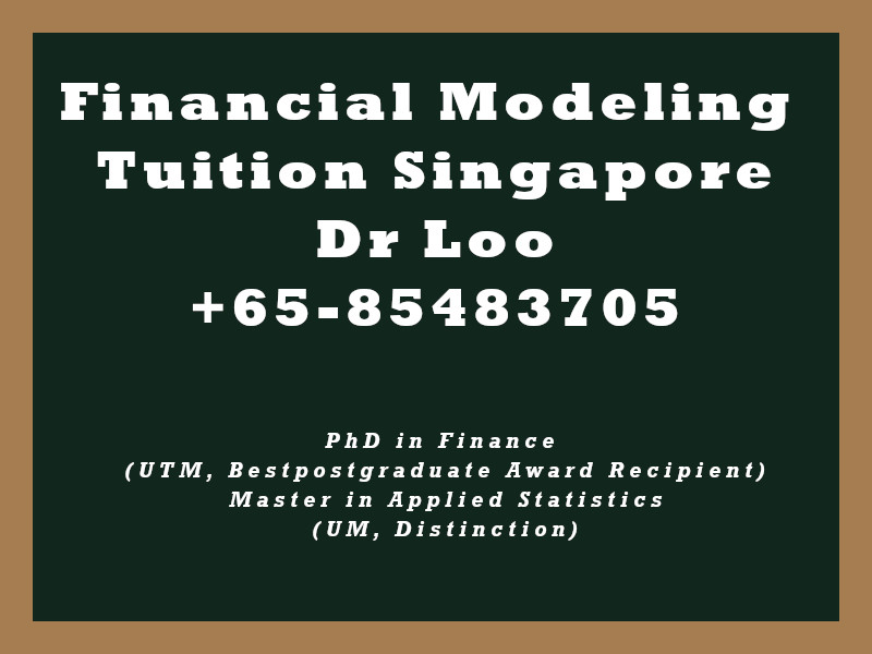 Financial Modeling Private Tuition Singapore