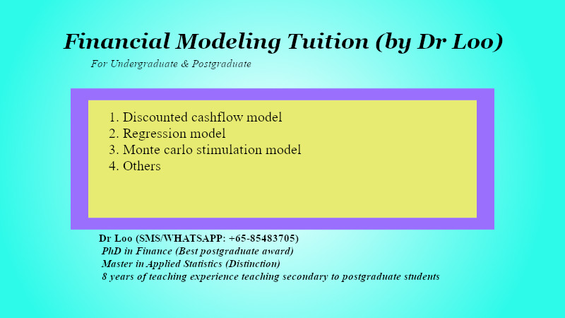 Financial Modeling Tuition in Singapore