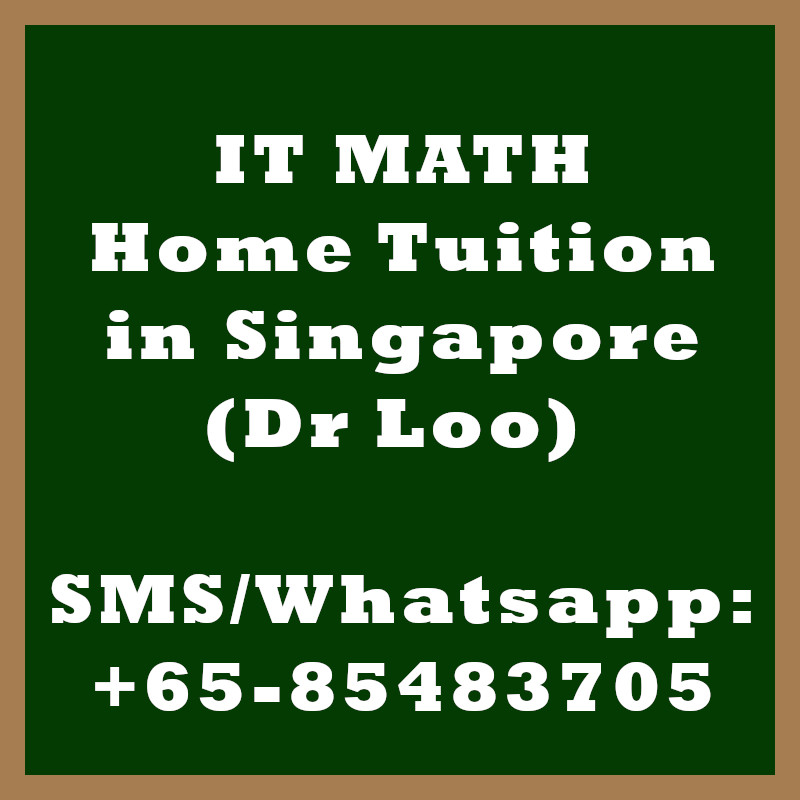 IT Math Home Tuition Singapore