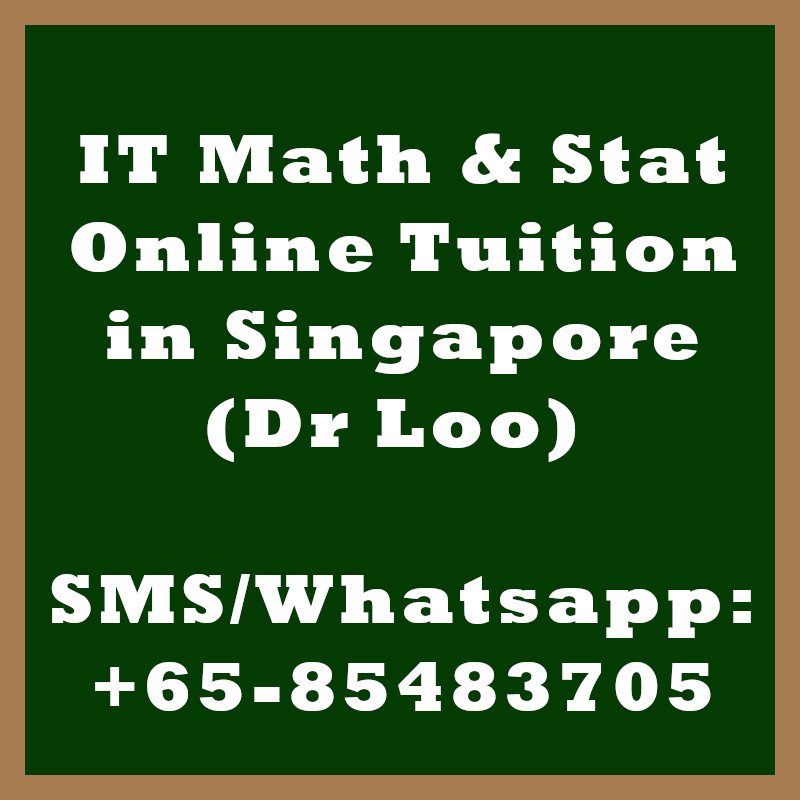 IT Math & Statistics Online Tuition Singapore