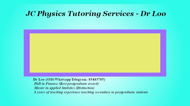 JC Physics Tuition in Singapore
