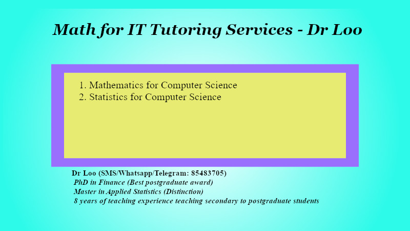 Math & Statistics for Computer Science Tuition in Singapore