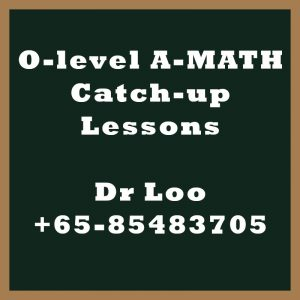 O-level A-Math Year End Catch-up Program 2020