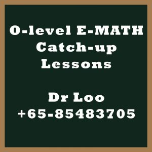 O-level E-Math Year End Catch-up Program 2020