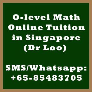 O-level Math Online Tuition Singapore