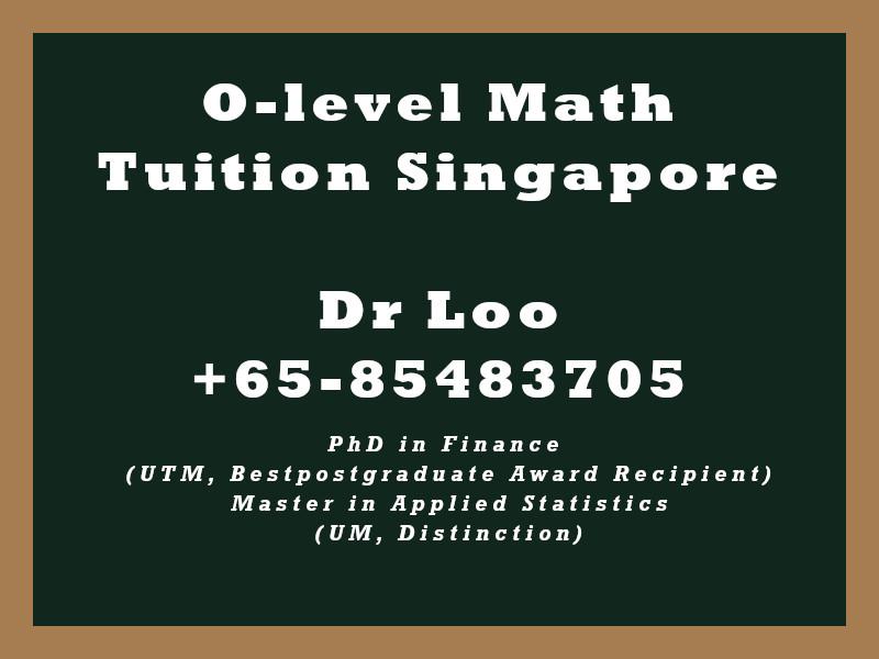 O-level Math Tuition Fee Singapore (A-math & E-Math)
