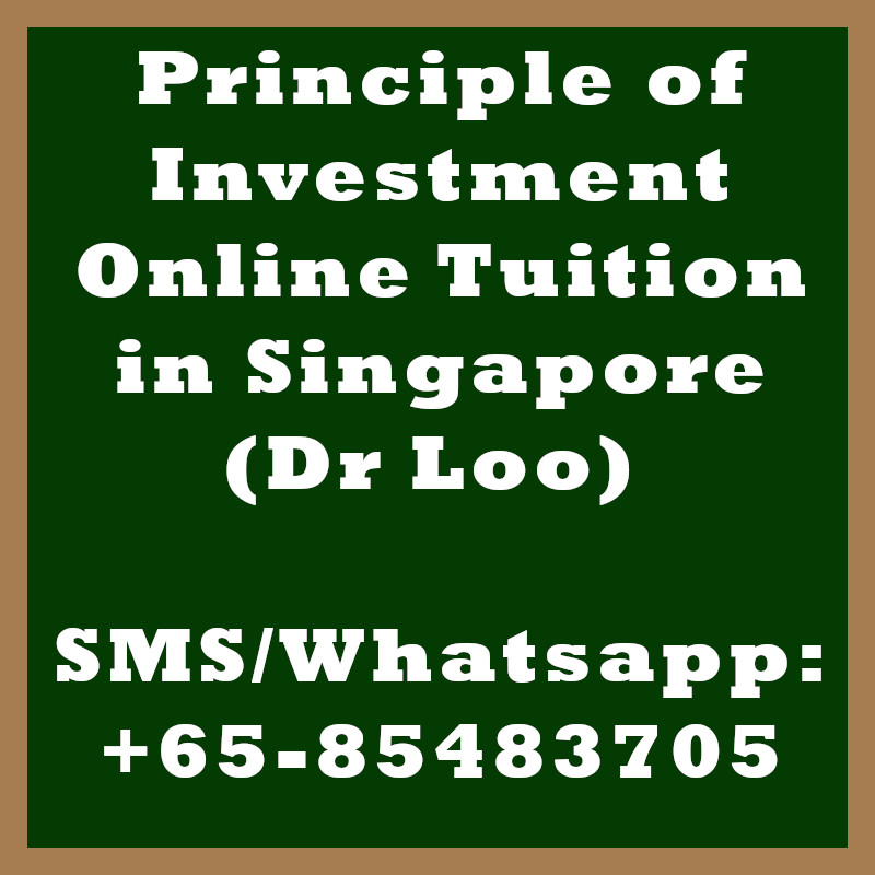 Principle of Investment Online Tuition Singapore