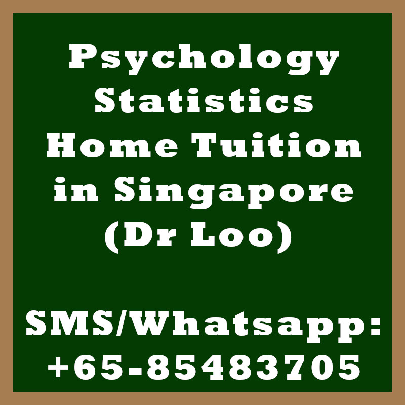 Psychology Statistics Home Tuition Singapore