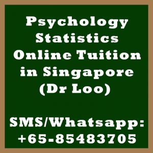 Psychology Statistics Online Tuition Singapore