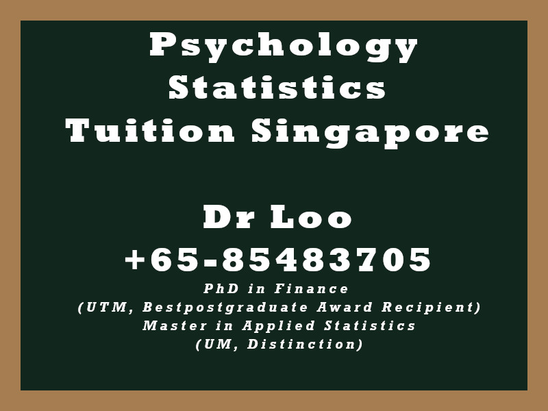 Psychology Statistics Private Tuition Singapore