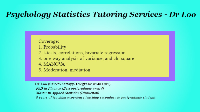 Psychology Statistics Tuition in Singapore