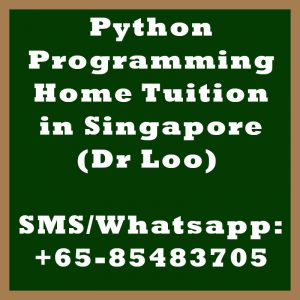 Python Programming Home Tuition Singapore