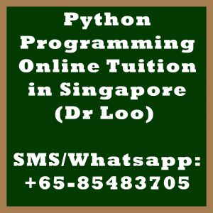 Python Programming Online Tuition Singapore