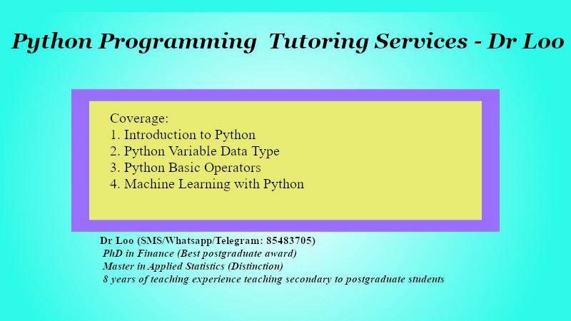Python Programming Tuition in Singapore