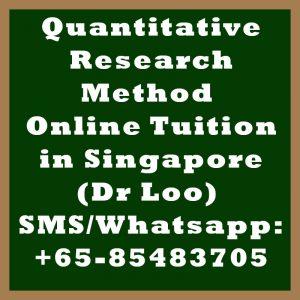 Quantitative Research Method Online Tuition Singapore