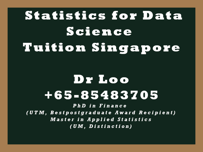 Statistics for Data Science Private Tuition Singapore