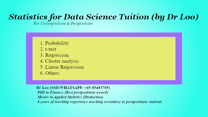Statistics for Data Science Tuition in Singapore