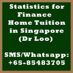 Statistics for Finance Home Tuition Singapore